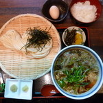 瀬戸内製麺710 - ひやあつかす汁ざる&コーチン卵かけご飯(H25.12.13)