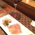ラ・マレ - ドリンクと前菜3種盛りのセット1300円