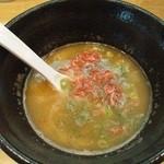 台風ギャング - 海老つけ麺(200g)のスープ割り