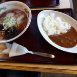 平成軒 - 昔風ラーメンセット ラーメン&カレーライス 790円