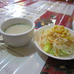 23077071 - ランチスープ&サラダ☆