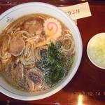 日本そば文化庵 - 鴨南蛮蕎麦 ¥750