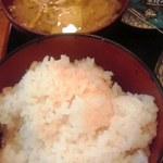 小料理 筑波 - みそ汁は具だくさん