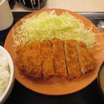 かつや - ロースかつ(竹)定食 724円