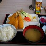 磯家 - アジフライ定食1,100円