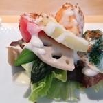 銀座 ひらやま - 季節のサラダ