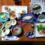 山村 - 朝から夕食のような朝食!