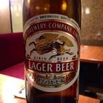 水たき玄海 - [1回目]ビール中瓶(600円)