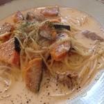 クッカーニャ - カボチャとツナのクリームソース
