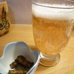 23094402 - ビールとうなぎ山椒煮