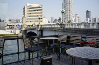 モトコーヒー - テラス席からの眺め