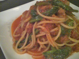 食楽 旨い肴 - 小松菜とツナのトマトソース(本日のパスタ)