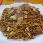 天笑屋 - 太麺 ホップ大王のMIX焼き大盛(950円)