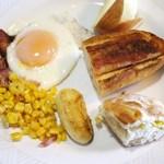 23104521 - 明太フランスとコーンパンで朝食