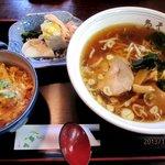 鬼そば - ラーメン+ミニカツ丼!(2013,12/13)