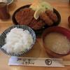 かつ喜 - 料理写真:ロースカツ定食(カキフライトッピング
