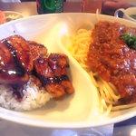 2311123 - 豚丼+スパゲティー