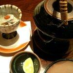 2311468 - 鯵昆布〆と松茸どびん蒸し