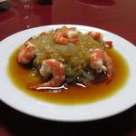広東御料理 竹香 - えびくらげの酢の物