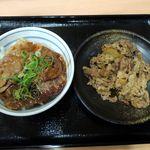 吉野家 - 豚丼小盛+牛皿並盛