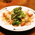 KIBA KITCHEN Earl - 2013.8 本日鮮魚のカルパッチョ~サラダ仕立て~(780円)