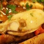 トラットリア・アルモ - 島根産 天然 本クエのアクアパッツァ 相生産の牡蠣がプリップリ(2013年12月)