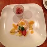 キッチンタク - デザート 無花果のソルベ メレンゲとサクサクのやつ