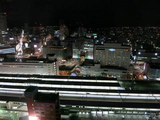 バー&ラウンジ エマイユ - 窓から静岡駅を見下ろす夜景