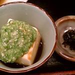 ごはんやたつや - 2013.12の副菜、オクラ豆腐