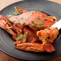 Pasta e Vino Kei - 渡り蟹のトマトクリーム・トレネッテ 1500円