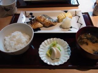 銀座 圓 - 鯖塩焼き定食(1050円)