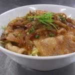 赤瓦 - 豚バラ丼 ¥500   ランチ そばスープ付いてのワンコイン。