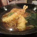 魚蔵 - 天ぷら2匹そば