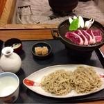23127993 - 鴨汁そば(鉄板焼き)