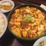味仙 - ランチ。麻婆豆腐定食。