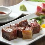 ボウズドア - 広島牛サイコロステーキ 2200円