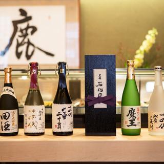店主こだわりの日本酒を多数の揃えてます!