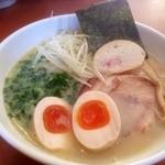 四代目麺処 ゆうじ - 鶏白湯しおらーめん+味玉(700+100円)