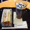 エクセルシオールカフェ - 料理写真:ヒレカツ&野菜チーズサンド・カフェモカショコラ