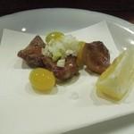 福来魚 - 銀杏と砂ずりの唐揚げ