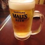 ちょもらんま - ドリンク写真:ビールで乾杯!
