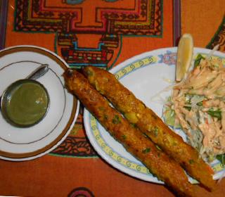 インド料理 マナカマナ - ポークシークカバブ