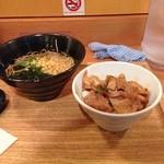 23151596 - 豚生姜焼き丼とそばの週替わり定食