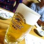 魚・肴・処 ひでまる - 生ビール(中)500円