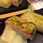 23155559 - 蟹と白海老の押し寿司