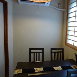 2~4人までの個室完備
