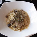 Lounge R - 生姜とポークのみぞれスープ仕立てカッペリーニ♪