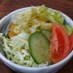 島崎うなぎ屋 - 定食のサラダ