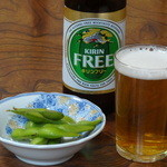 島崎うなぎ屋 - ノンアルビールをグビーっと・・・