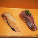 寿司大 - シマアジと鯵
